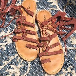AEO suede gladiator sandals